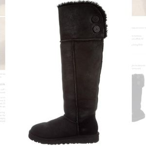 UGG Over The Knee Bailey Button Black Boots +Box💞